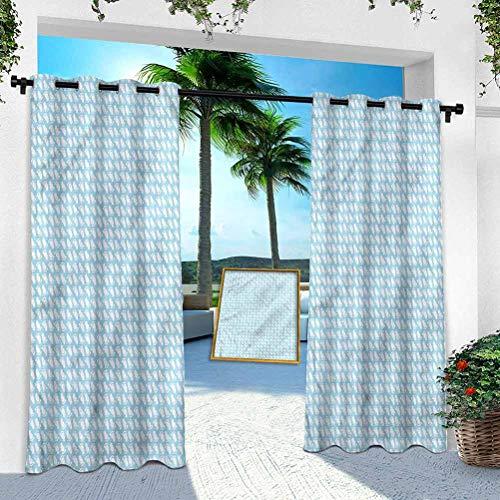 Aishare Store - Cortina para patio al aire libre, bebé, recién nacido, 132 x 213 cm, resistente panel de interior para porche, balcón, pérgola, toldo para carpa (1 panel)