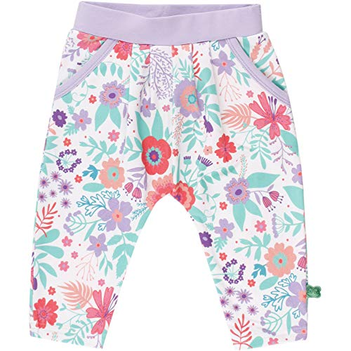 Fred'S World By Green Cotton Aloha Pants Baby Pantalon, Multicolore (White 011060102), 95 (Taille Fabricant: 80) Bébé Fille