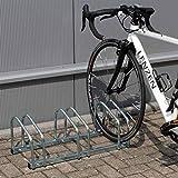 WilTec Soporte 3 Bicicletas Aparcamiento bicis Aparcabicis 70x33x27cm Metal...