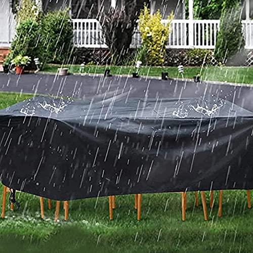 Copertura per mobili da giardino rettangolare, coperture per mobili da esterno resistenti all'acqua, coperture protettive per tavoli da pranzo e sedie resistenti, facile da pulire, -200X200X85cm/79X79