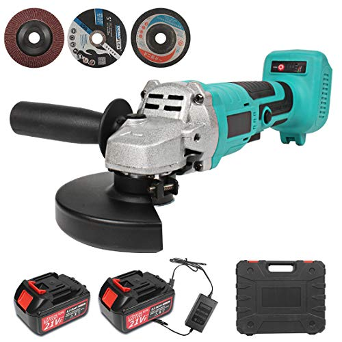 125mm Cordless Angle Grinder, 21V Brushless Angle Grinder...