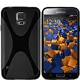 mumbi Hülle kompatibel mit Samsung Galaxy S5 / S5 Neo Handy Case Handyhülle, schwarz