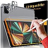 """UniqueMe Paper-Like protector pantalla para iPad Pro 2020 12.9"""" película protectora de papel similar, Vidrio templado, protección de la lente de la cámara para dibujar/tomar notas [admite lápiz]"""