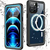 Temdan Designed for iPhone 12 Pro Case Waterproof,Built in Magnets with Screen Protector Heavy Duty IP68 Waterproof Case for iPhone 12 Pro 6.1 inch (Compatible with All MagSafe Accessories)
