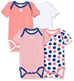 Absorba 6N60336-RA96BODY Body Bébé Fille, Rose (Pink 96) 2 ans (Taille fabricant:2A) lot de 4