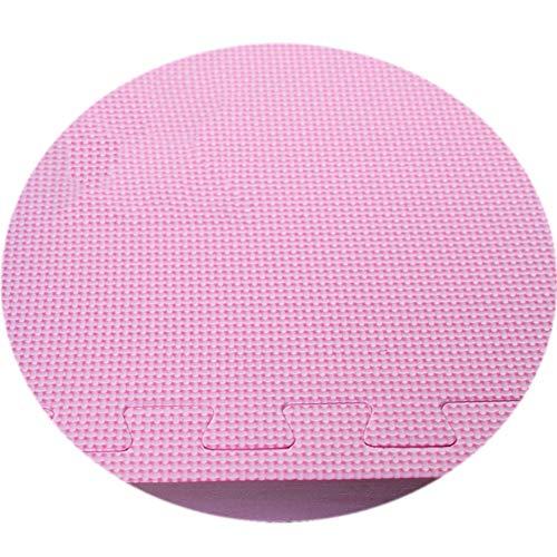 HLMIN Tapis Puzzle en Mousse Tapis De Sol Protecteurs 60x60 for Entraînement De Remise en Forme Pilates Home Workout Yoga Gym Kids (Color : Pink, Size : 6PCS)