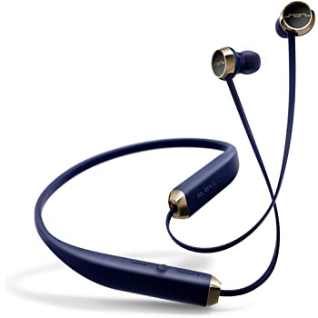 Sol Republic Shadow Bluetooth Wireless Noise Cancelling Neckband Headphones, Navy/Gold