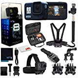 GoPro HERO8 Black Digital Action Camera - Waterproof, Touch Screen, 4K UHD Video, 12MP Photos, Live Streaming, Stabilization - with Mega Accessory Kit - All You Need Bundle