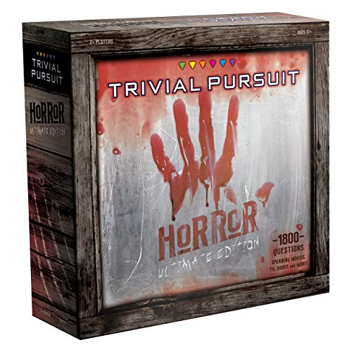 Trivial Pursuit Horror Ultimate Edition | Horror Trivia Game Featuring 1800 Questions from Classic Horror Films & Books | Collectible Trivia Board Game for Fans of Horror Movies