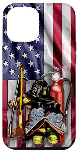 iPhone 12 Pro Max Firefighter equipment american flag patriotic fireman Case
