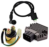 Voltage Regulator Rectifier,Starter Solenoid Relay and Ignition Coil for Honda Rancher 350 TRX350FE TRX350FM TRX350TE TRX350TM TRX450 TRX450ES 2000-2006(3 Pcs)