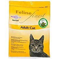 Porta 21 Feline Finest Adult Cat 2kg is a premium quality, healthy and natural complete cat food Ground poultry meat and top quality proteins guarantee a great taste Contains beneficial herbs and dried fruits Enriched with Omega 3 and 6 fatty acids a...