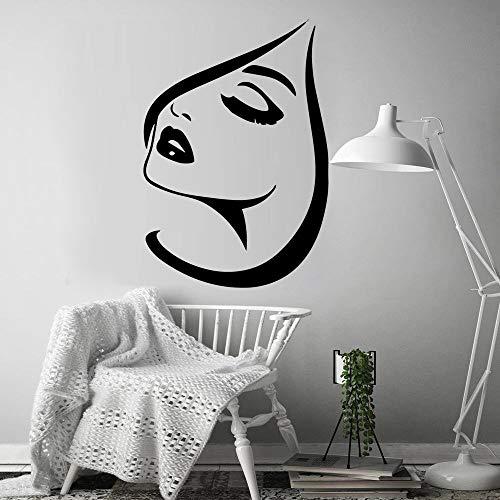 Pegatinas de pared divertidas para salón de belleza, accesorios de decoración del hogar para decoración de habitación de niños, pegatinas de pared mural A6 L 43x62cm