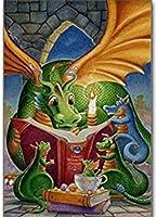 DSJHK パズルジグソーパズル抽象グリーンドラゴン読書本ジグソーパズル1000ピース木製パズル大人の子供たち脳チャレンジ教育玩具家の装飾