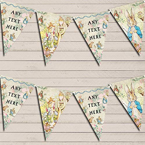 Beatrix Potter Peter Rabbit Banner Children's Party Personalised Bunting Banner Garland