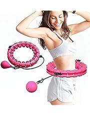 HAOGEGE Hula-Hoop, fitness, gymnastik, justerbar, träning för viktminskning, snabb midjeträning