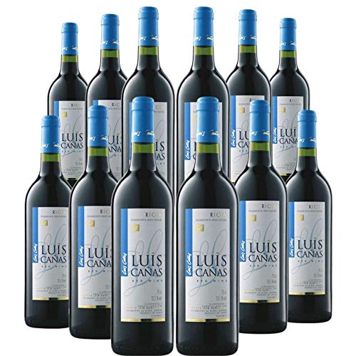 Vino Tinto Joven Luis Cañas - Un Gran Vino - Elaborado con Tempranillo 100% (Luis Cañas Joven, Caja 12 Botellas)