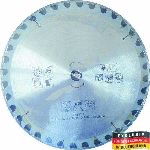 Masterproof Lame de scie circulaire en métal, 400 mm, 36 dents, trempé spécial pour toute travail du bois