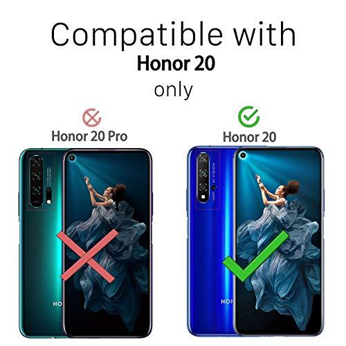 Ferilinso Hülle Kompatibel mit Huawei Nova 5T/ Honor 20, Ultra [Slim Thin] Kratzfestes TPU Gummi Weiche Haut Silikon Fall Schutzhülle für Huawei Nova 5T/ Honor 20 Hülle (Transparent) - 2