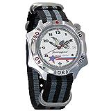 Vostok Komandirskie Fighter Pilot Mechanical Mens Commander Military Wrist Watch #531764 (Black and Grey)