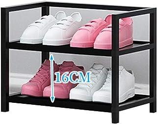 Shoe Rack Organizador de almacenaje de Zapatos de 2 Niveles, Negro Ailin Home (Tamaño : 40x25x33cm)