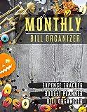 Monthly Bill Organizer: budget tools Notebook For Business Planner or Personal Finance Planning Workbook | pumpkin Halloween design
