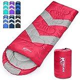 Sofore Sleeping Bags Waterproof Sleep Bag for Adults Kids, Portable with Compression, 4 Seasons Warm...