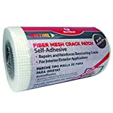 Red Devil 1226 Onetime Fiber Mesh Crack Patch 6' x 75' Wall Repair Fabric, White