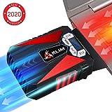 KLIM Cool – Refrigerador para Ordenador Portátil – Ventilador de Alto Rendimiento para Una Rápida Refrigeración, Aspiradora de Aire USB, Rojo [ Nueva 2019 Versión ]