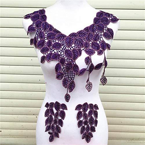 3 unids/set 9 colores bordado de encaje artesanal costura cuello apliques adornos nueva llegada collar de encaje de moda