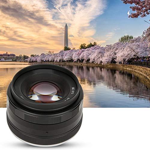 Oyunngs Lente de Enfoque F1.4APS-C de 35 mm Retrato Apertura Grande para Montura EOS-M EF-M, con Bolsa de Almacenamiento