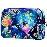 Hermosa bolsa de aseo con diseño de luciérnagas, brochas de maquillaje, bolsa de transporte para gimnasio, neceser organizador de cosméticos, kit de viaje para hombres y mujeres