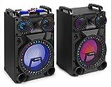 Fenton VS12 Conjunto Altavoces Activos 12' Bluetooth, LED 1200W