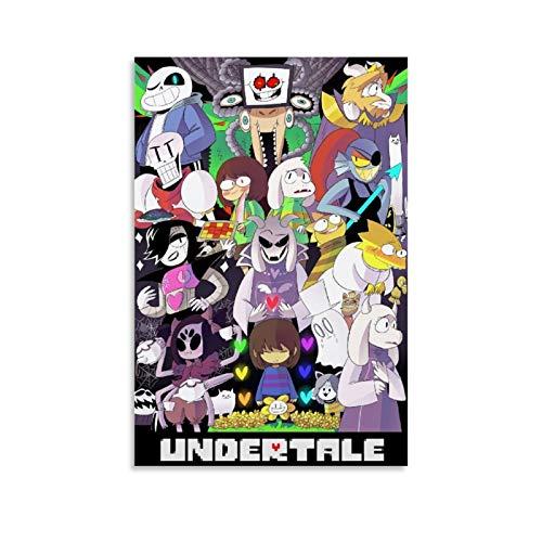 Supernatural Creature Undertale Personajes Skele Sans Papyrus Anime Manga Children's Canvas Painting Poster Celebrity Art 24x36inch(60x90cm)
