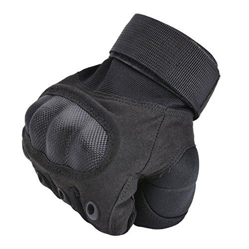Coofit Taktische Handschuhe Winter Motorrad Handschuhe Herren Vollfinger Army Gloves Biking Skifahre Handschuhe (Schwarz, XL) - 8