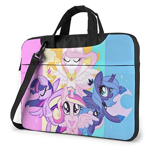 My Little Pony Laptop Bag Business Briefcase for Men Women, Shoulder Messenger Laptop Sleeve Case Carrying Bag- 13 Inch