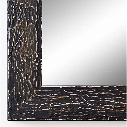 Online Galerie Bingold Spiegel Wandspiegel Badspiegel Flurspiegel Garderobenspiegel - Über 200 Größen - Parma Schwarz 3,9 - Außenmaß des Spiegels 50 x 140 - Wunschmaße auf Anfrage - Antik, Barock