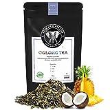 Edward Fields Tea ® - Té azul Oolong orgánico a granel con Piña y Coco. Té bio recolectado a mano con ingredientes y aromas naturales, 100 gramos, China.