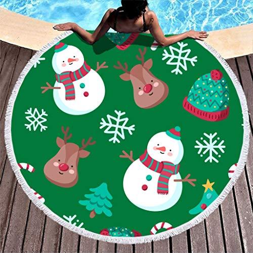 YxueSond Ronde absorberende strandhanddoeken sjaal campingdeken zwembad handdoek