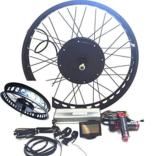 """3000W Hub Motor Ebike Bicicleta ELÉCTRICA KIT DE CONVERSIÓN + LCD+ Disc Brake Rear Wheel Theebikemotor (26"""" * 4.0 Fat Wheel + 7 Speed Gear, 48V3000W System)"""
