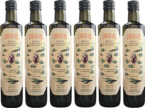 ギリシャ クレタ島 最高級エキストラ バージン オーガニック オリーブオイル プシラキス エステート500ml 6本セット