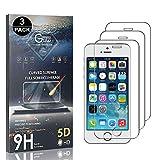 Bear Village® Displayschutzfolie für iPhone SE/iPhone 5 5s, Kratzfest, 99% Transparenz Schutzfolie aus Gehärtetem Glas für iPhone SE/iPhone 5 5s, Einfache Installation, 3 Stück -