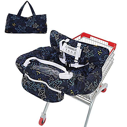 WGFW - Protector para carrito de la compra para bebés o niños pequeños, universal, lavable a máquina, color azul oscuro
