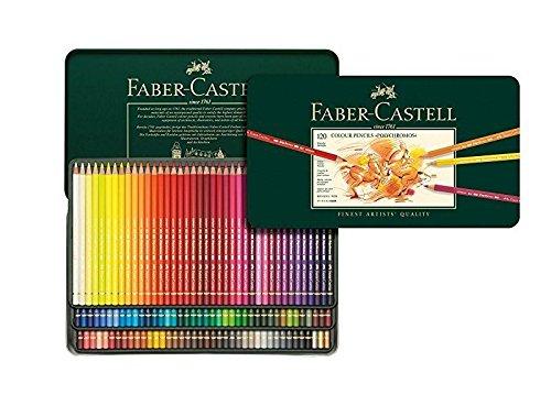 Faber-Castell 110024 - Künstlerfarbstift, 24 Polychromos Metalletui (Einzeln, 120er Metalletui)
