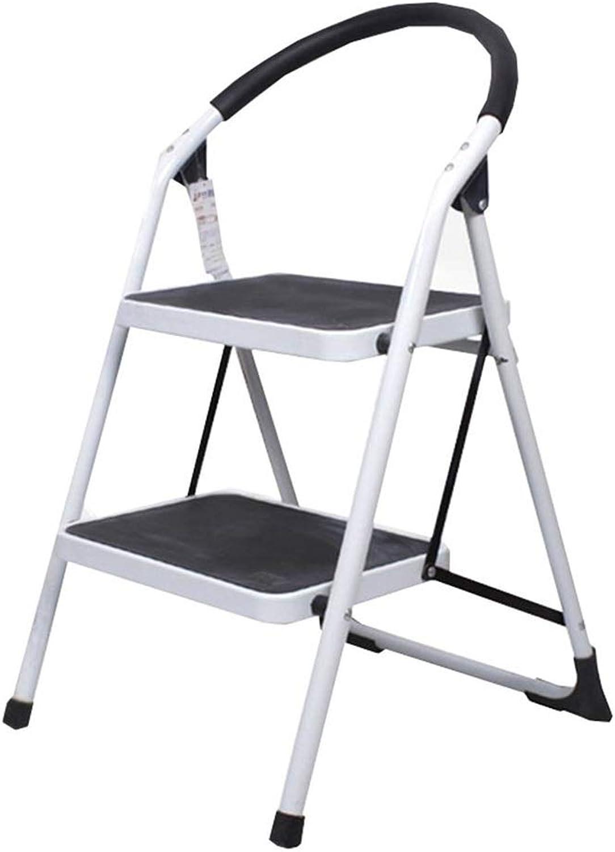 TLTLTD 2 Step Ladder, Family Kitchen Step Ladder Lightweight, Non-Slip Widened Pedal, Convenient Folding Easy to Store