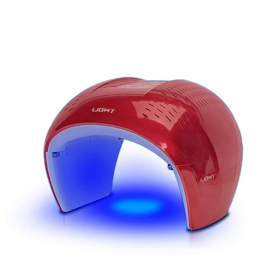 書道バックアップダブル7色光療法機led、光光線力学肌の若返りランプ、サロンスパアンチエイジングスキンケアデバイス、フェイシャルマスクマッサージ機