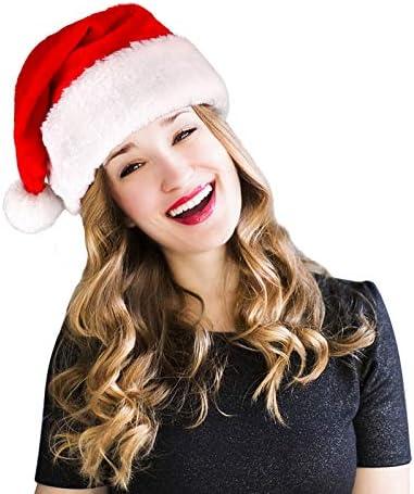 Homeasy L XL Santa Hats for Adults Bulk Large Unisex Men Women Christmas Hat Xmas Holiday Hat product image