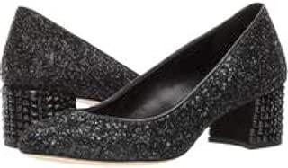 MICHAEL Michael Kors Womens Arabella Glitter Dress Pumps Black 9 Medium B M