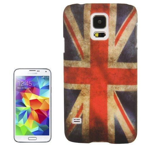 THE FLY SHOP - Cover per Samsung Galaxy S5 SM-G900F e S5 Neo/Custodia in plastica Rigida Antiscivolo con Bandiera della Gran Bretagna Inghilterra in Stile Vintage