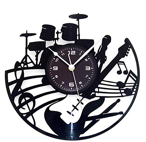ZJN-JN Reloj de Pared Reloj de Pared de Vinilo salón Reloj de Pared de la Moda Retro Creativa Sencilla LED Moderno Colorido Reloj de Las Luces (Color: -, Tamaño: -)